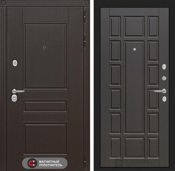 Входная металлическая дверь Лабиринт Мегаполис 12 (Венге / Венге)