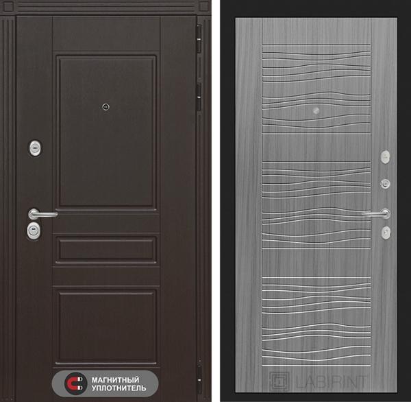 Входная металлическая дверь Лабиринт Мегаполис 6 (Венге / Сандал серый)