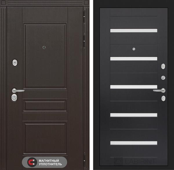 Входная металлическая дверь Лабиринт Мегаполис 1 (Венге / Венге)