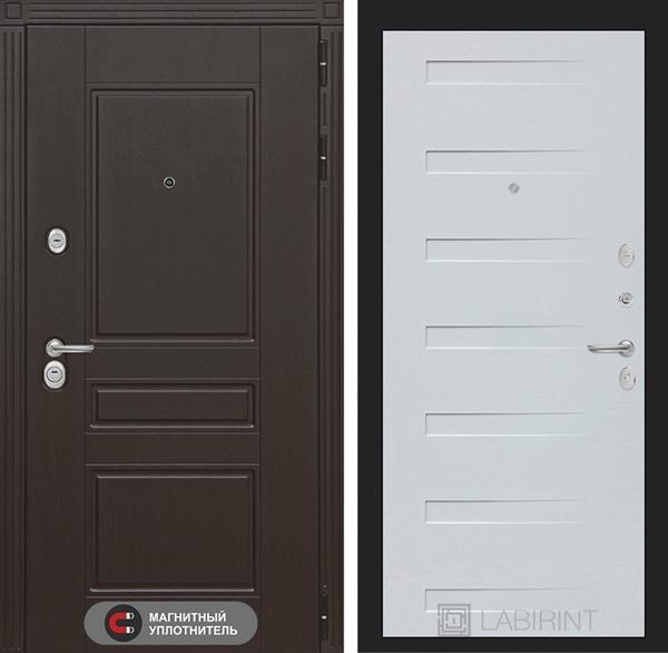 Входная металлическая дверь Лабиринт Мегаполис 14 (Венге / Дуб кантри белый)