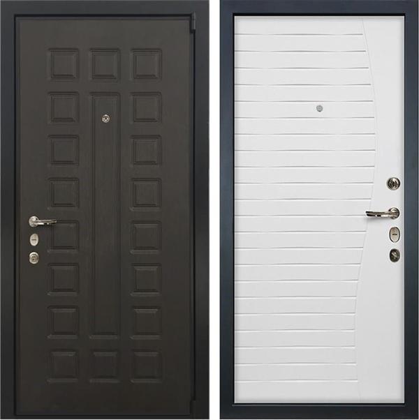 Входная металлическая дверь Лекс 4А Неаполь Mottura Ясень белый (панель №36)