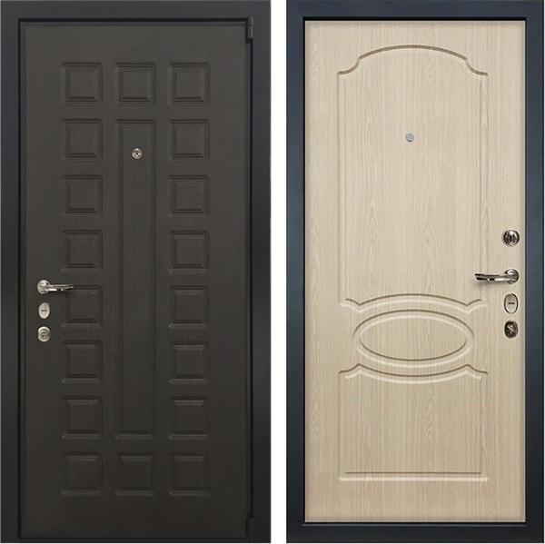 Входная металлическая дверь Лекс 4А Неаполь Mottura Беленый дуб (панель №14)