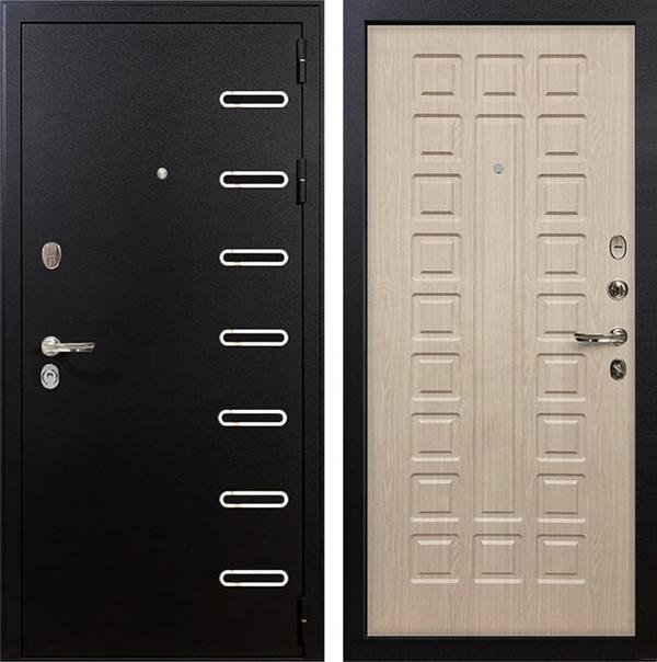 Входная металлическая дверь Лекс Витязь Белёный дуб (панель №20)