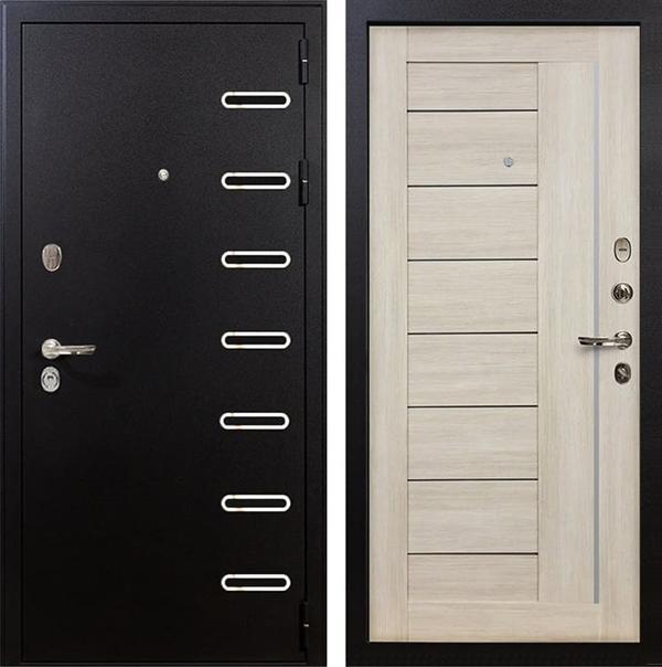 Входная металлическая дверь Лекс Витязь Верджиния Ясень кремовый (панель №40)