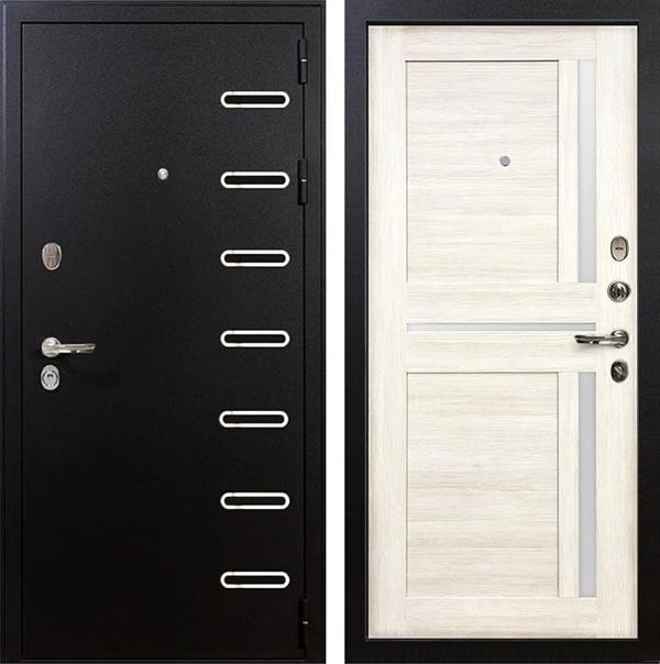 Входная металлическая дверь Лекс Витязь Баджио Белёный дуб (панель №47)