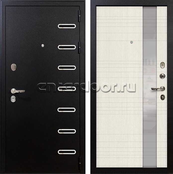Входная металлическая дверь Лекс Витязь Новита Белёный дуб (панель №52)