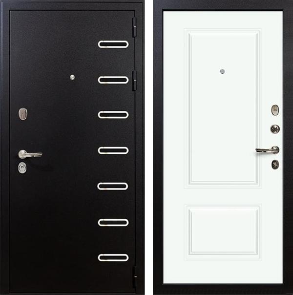 Входная металлическая дверь Лекс Витязь Вероника-1 Эмаль Белая (панель №55)