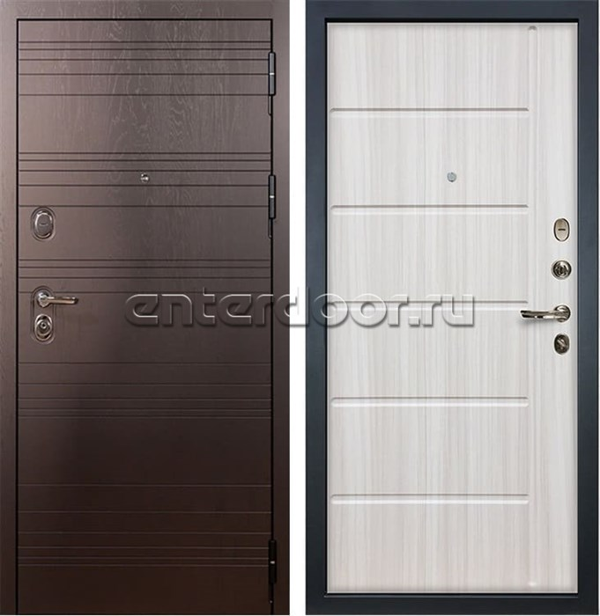 Входная металлическая дверь Лекс Легион Сандал белый (панель №42)