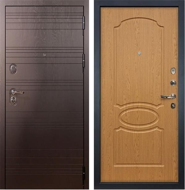 Входная металлическая дверь Лекс Легион Дуб натуральный (панель №15)