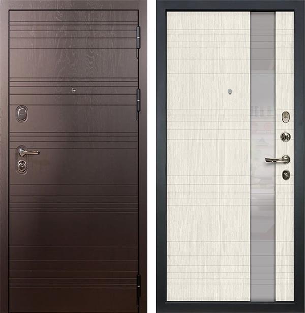 Входная металлическая дверь Лекс Легион Новита Дуб беленый (панель №52)