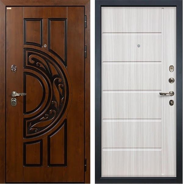 Входная металлическая дверь Лекс Спартак Cisa Сандал белый (панель №42)