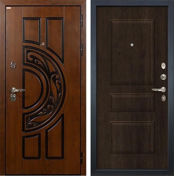 Входная металлическая дверь Лекс Спартак Cisa Винорит Алмон 28 (панель №60)