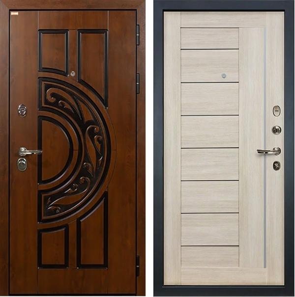 Входная металлическая дверь Лекс Спартак Cisa Верджиния Ясень кремовый (панель №40)