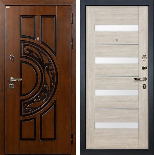 Входная металлическая дверь Лекс Спартак Cisa Сицилио Ясень кремовый (панель №48)