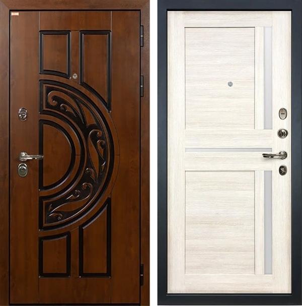 Входная металлическая дверь Лекс Спартак Cisa Баджио Белёный дуб (панель №47)