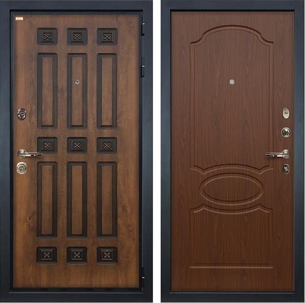 Входная металлическая дверь Лекс Гладиатор 3К Винорит Берёза мореная (панель №12)