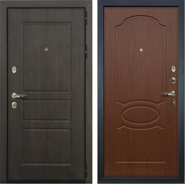 Входная стальная дверь Лекс Сенатор Винорит Берёза мореная (панель №12)