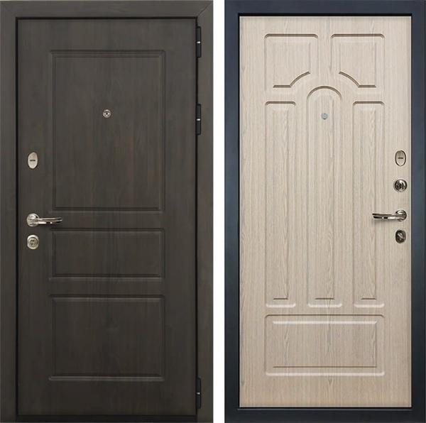 Входная стальная дверь Лекс Сенатор Винорит Белёный дуб (панель №25)