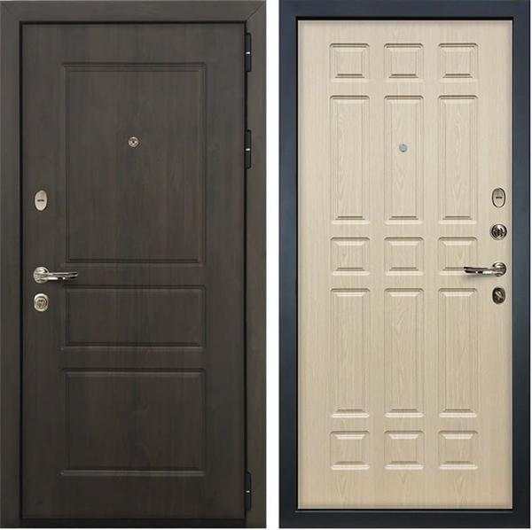 Входная стальная дверь Лекс Сенатор Винорит Белёный дуб (панель №28)