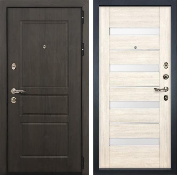 Входная стальная дверь Лекс Сенатор Винорит Сицилио Белёный дуб (панель №46)