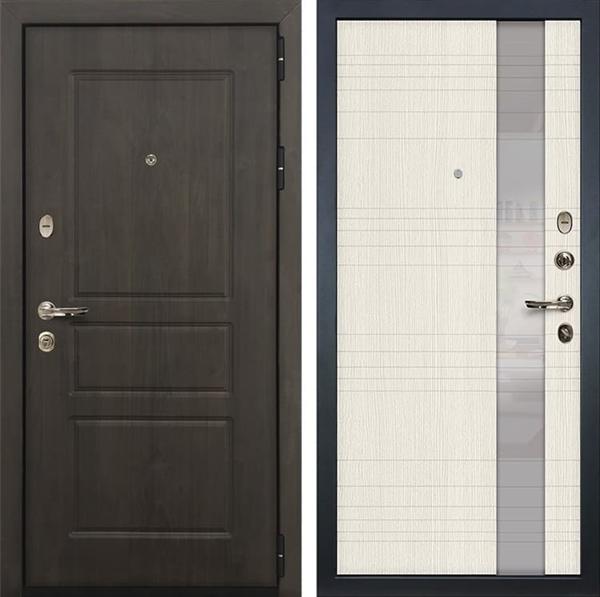 Входная стальная дверь Лекс Сенатор Винорит Новита Белёный дуб (панель №52)