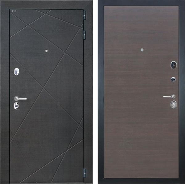 Входная металлическая дверь Интекрон Сенатор Лучи (Венге распил кофе / ЭкоВенге)