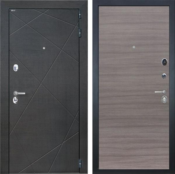 Входная металлическая дверь Интекрон Сенатор Лучи (Венге распил кофе / Дуб Тоскано)