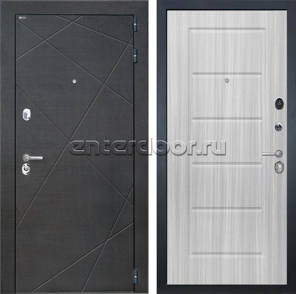 Входная металлическая дверь Интекрон Сенатор Лучи ФЛ-39 (Венге распил кофе / Сандал белый)