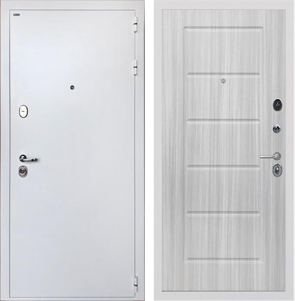 Входная стальная дверь Интекрон Колизей White ФЛ-39 (Белая шагрень / Сандал белый)