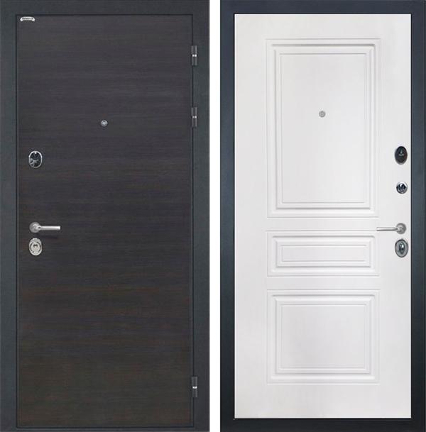 Входная металлическая дверь Интекрон Сицилия ФЛ-243-М (ЭкоВенге / Белый матовый)