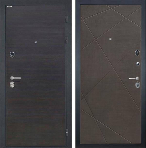 Входная металлическая дверь Интекрон Сицилия Лучи-М (ЭкоВенге / Венге распил кофе)