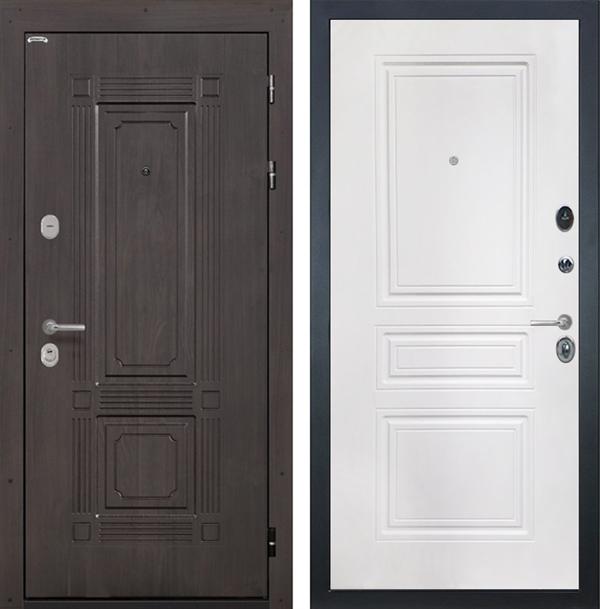 Входная металлическая дверь Интекрон Италия ФЛ-243-М (Венге / Белый матовый)