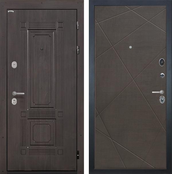 Входная металлическая дверь Интекрон Италия Лучи-М (Венге / Венге распил кофе)