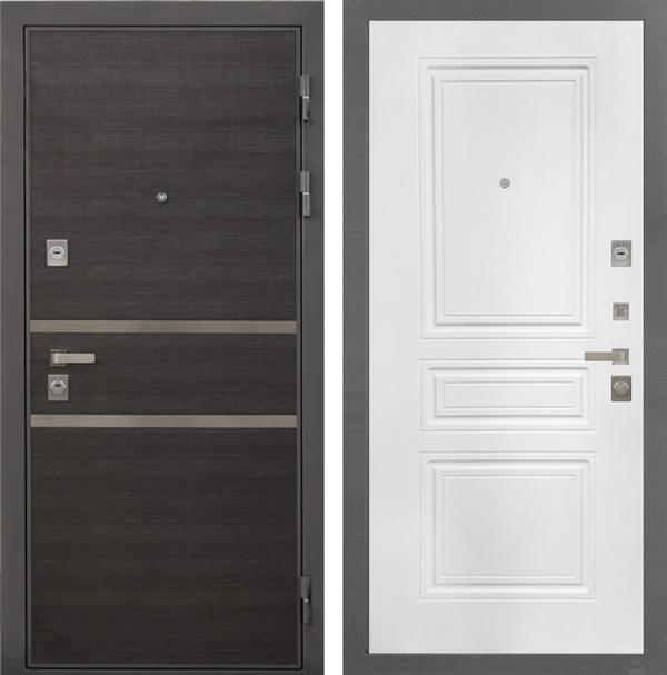 Входная металлическая дверь Интекрон Неаполь ФЛ-243-М (Лен Сильвер / Белый матовый)