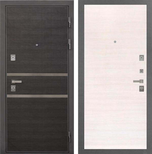 Входная металлическая дверь Интекрон Неаполь (Лен Сильвер / Дуб Сильвер)