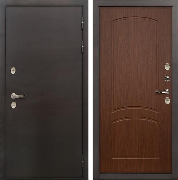 Входная дверь с терморазрывом Лекс Термо Сибирь 3К Береза мореная (панель №11)