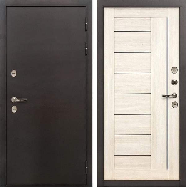 Дверь с терморазрывом Лекс Термо Сибирь 3К Верджиния Беленый дуб (панель №38)