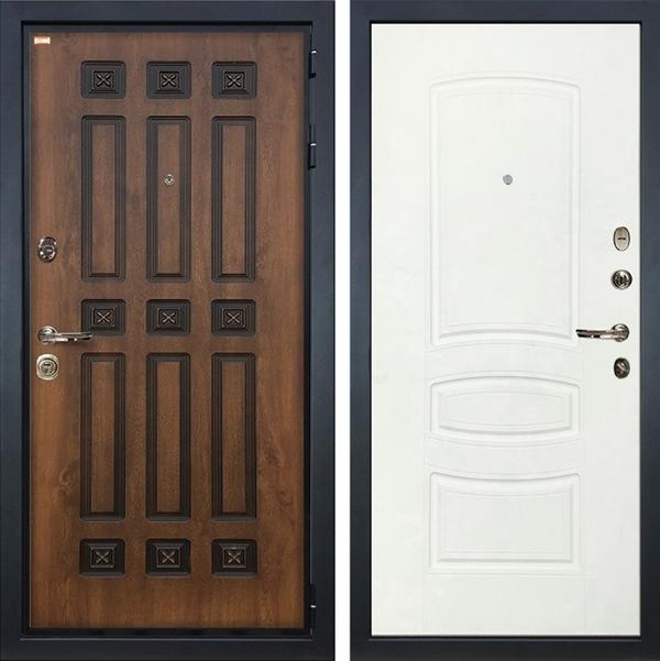 Входная металлическая дверь Лекс Гладиатор 3К Винорит Белая шагрень (панель №68)