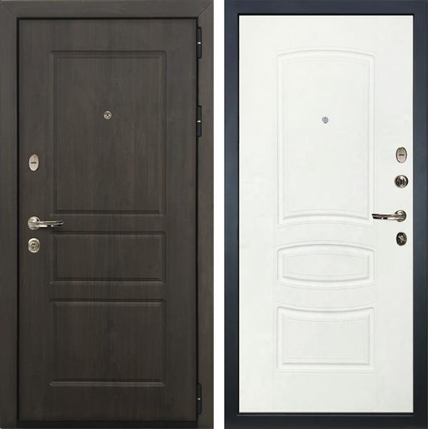 Входная стальная дверь Лекс Сенатор Винорит Белая шагрень (панель №68)