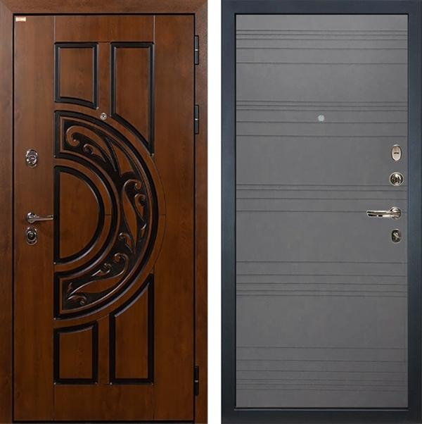 Входная металлическая дверь Лекс Спартак Cisa Графит софт (панель №70)