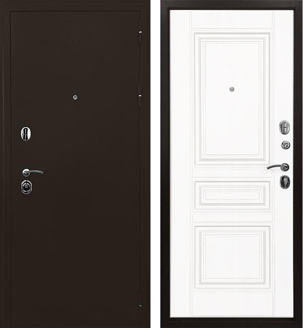 Входная металлическая дверь Ратибор Троя 3К (Белый матовый)