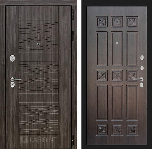 Входная металлическая дверь Лабиринт Сканди 16 (Дарк Грей / Алмон 28)