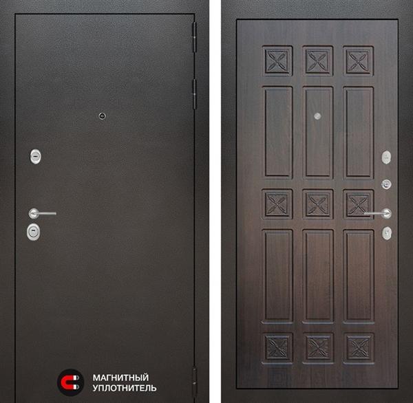Входная металлическая дверь Лабиринт Сильвер 16 (Антик темное серебро / Алмон 28)