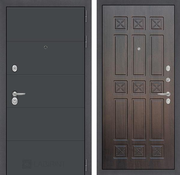 Входная металлическая дверь Лабиринт Арт 16 (Графит софт / Алмон 28)