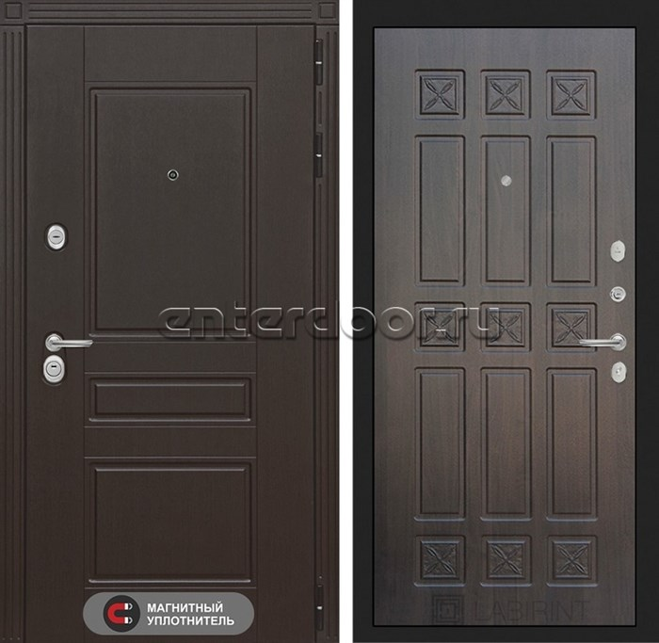 Входная металлическая дверь Лабиринт Мегаполис 16 (Венге / Алмон 28)
