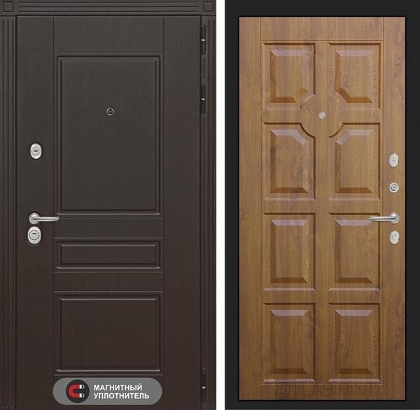 Входная металлическая дверь Лабиринт Мегаполис 17 (Венге / Золотой дуб)