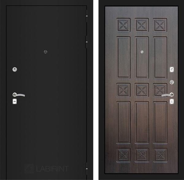 Входная металлическая дверь Лабиринт Классик 16 (Шагрень черная / Алмон 28)