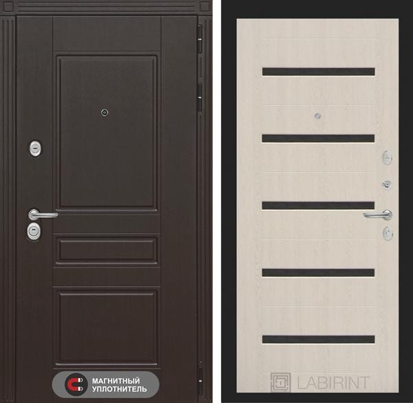Входная металлическая дверь Лабиринт Мегаполис 1 (Дуб беленый)