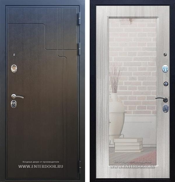 Входная дверь Армада Премиум 246 с Зеркалом Пастораль (Венге / Сандал белый)