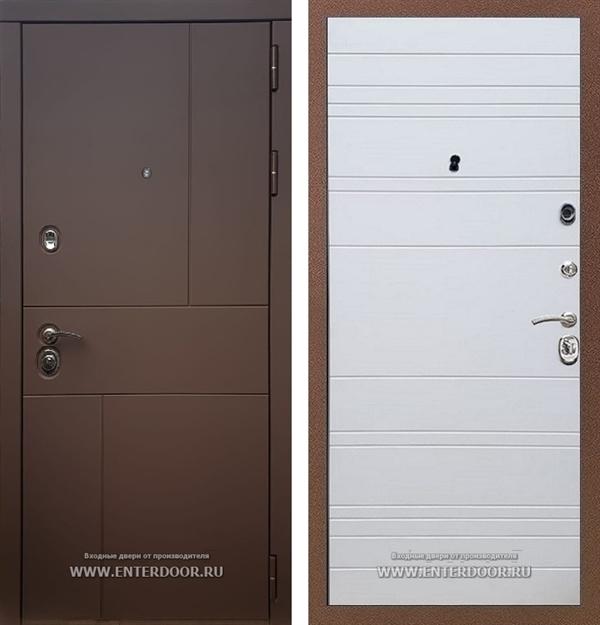 Входная металлическая дверь Армада Урбан (Ясень шоколадный / Белый софт)